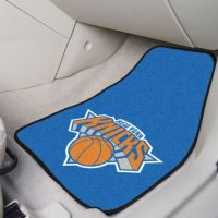 New York Knicks 2-piece Carpeted Car Mats - 18 x 27