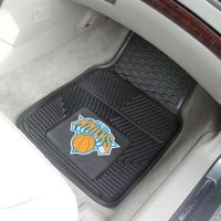 New York Knicks Heavy Duty 2-Piece Vinyl Car Mats - 18 x 27