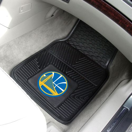 "Golden State Warriors Heavy Duty 2-Piece Vinyl Car Mats - 18"" x 27"""