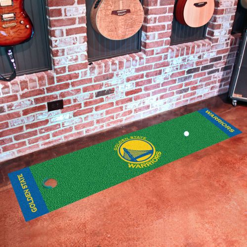 "Golden State Warriors Putting Green Mat - 18"" x 72"""