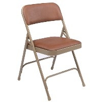 1200 Series Premium Vinyl-Covered Folding Chair