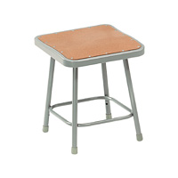 6300 Series Heavy-Duty Square Steel Lab Stool