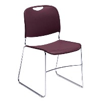 8500 Series Hi-Tech Ultra-Compact Plastic Stacking Chair