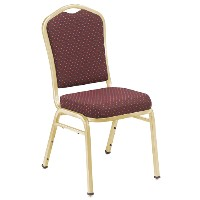 9350 Silhuette Fabric Padded Stack Chairs