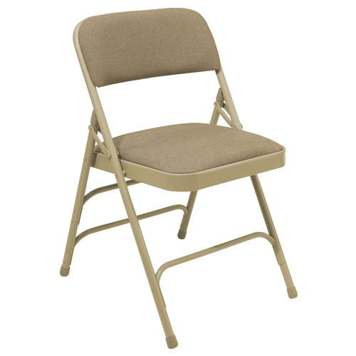 2300 Series Premium Triple-Brace Fabric-Covered Folding Chair