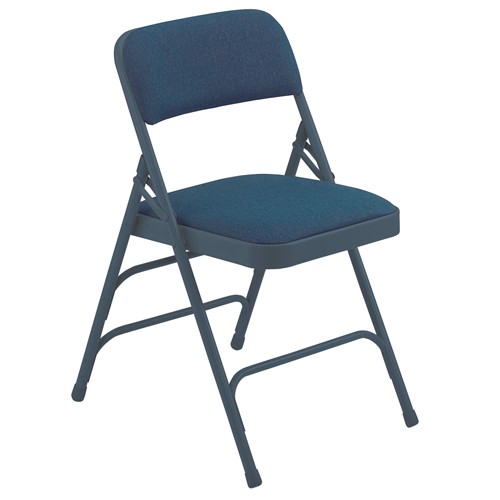 2300 Series Premium Triple-Brace Fabric-Covered Folding Chair