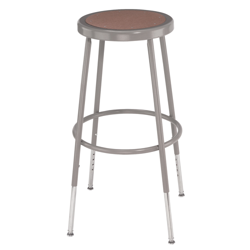 6200 Series Adjustable Heavy-Duty Steel Lab Stool