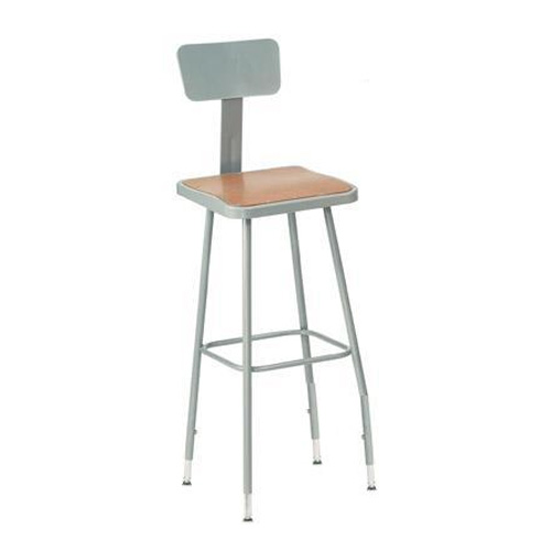 6300 Series Adjustable Heavy-Duty Square Steel Lab Stool