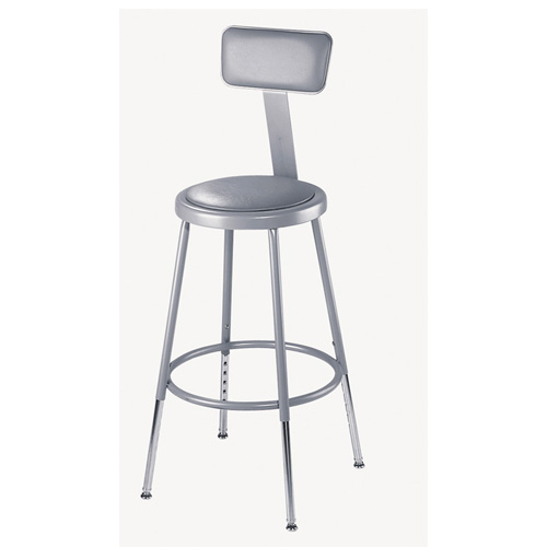 6400 Series Adjustable Heavy Duty Steel Padded Lab Stool