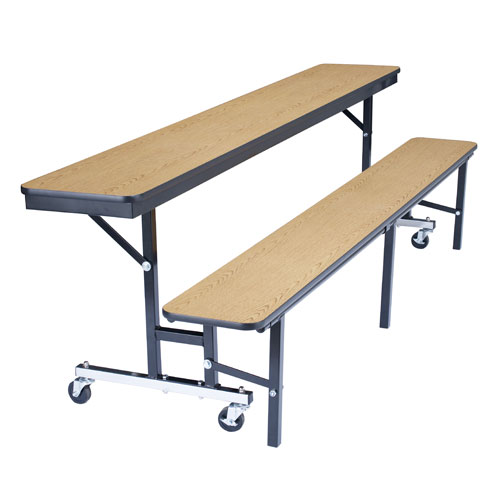 Mobile Convertible Bench Cafeteria Table