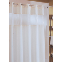 The Major Beige Hookless Shower Curtain