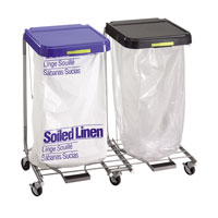 Double Medium Duty Hamper with Foot Pedal