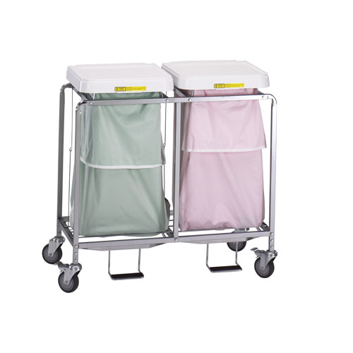 """Double """"Leakproof"""" Hamper with Foot Pedal"""