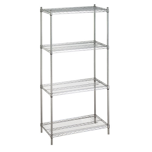 Shelving Unit with 4 Wire Shelves