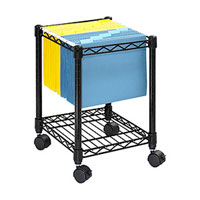 Compact Mobile File Storage Cart