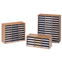 Corrugated Wood Literature Organizers