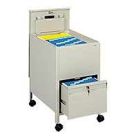 Extra Deep Locking Tub File Storage Cart