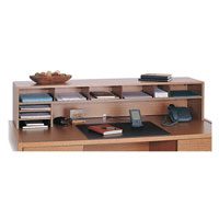 Low Profile Wooden Desktop Organizers