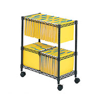 Two Tier Rolling File Storage Cart