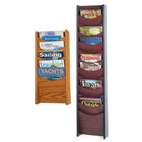 Wall Mount Wooden Literature Display Racks