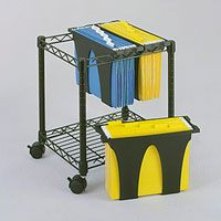 Wire File Storage with Removable Tubs
