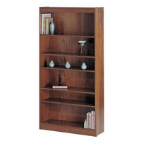 WorkSpace® Square-Edge Veneer Bookcases