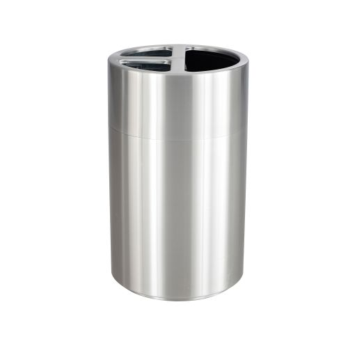 Triple Recycling Receptacle, 40 Gallon