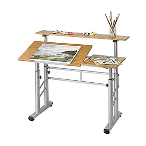 Adjustable Height Split Level Drafting Table