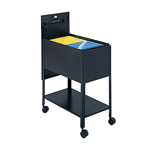 Safco Extra Deep Locking Tub File Storage Cart