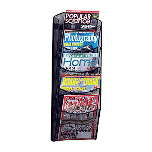 Onyx™ Mesh Wall Mount Magazine Display Racks