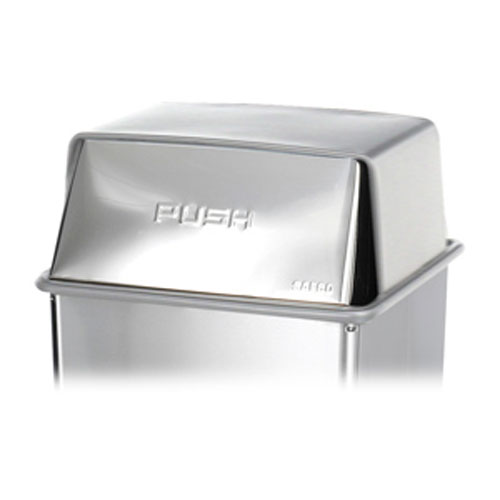 Swing and Push Top Waste Receptacles