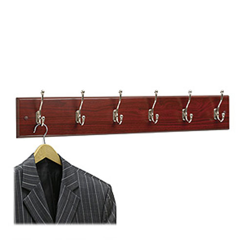 4217MH Wooden Wall Mounted Coat Rack 6 Hooks 355W x 3