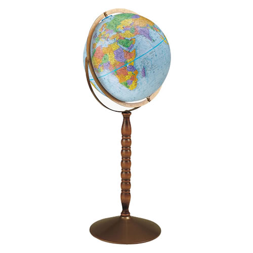 "12"" Treasury Floor Globe"