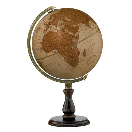 """12"""" Leather Expedition Desk Globe"""