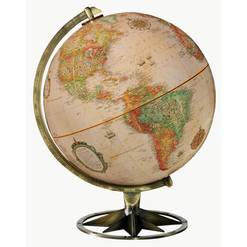"12"" Compass Rose Desk Globe"