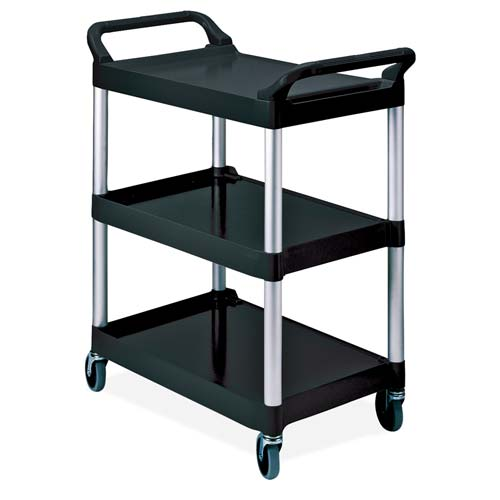 rubbermaid 3 shelf economy plastic utility cart. Black Bedroom Furniture Sets. Home Design Ideas