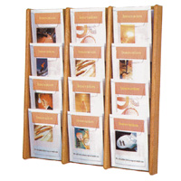 Oak & Acrylic Literature Display