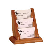 Solid Oak Business Card Racks