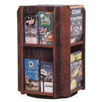 Countertop Rotating Oak Literature Display