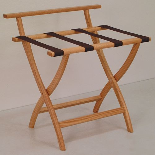 WallSaver Solid Oak Luggage Rack