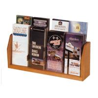 Oak & Acrylic Literature Rack