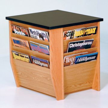 Three Sided Magazine End Table