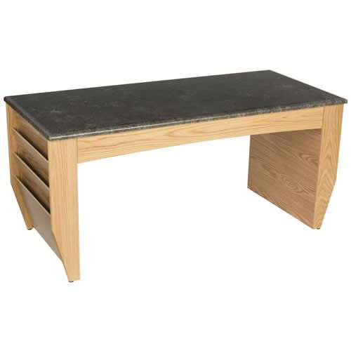 Coffee Table with Magazine Pockets