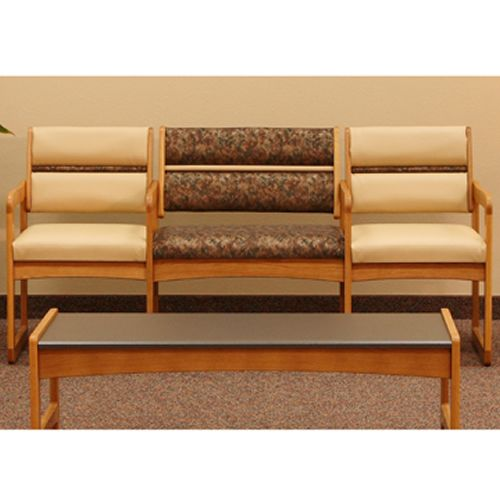 Dakota Wave Series - Bariatric Sled Base Sofa with Arms