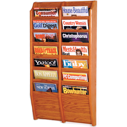 Oak Magazine Wall Rack