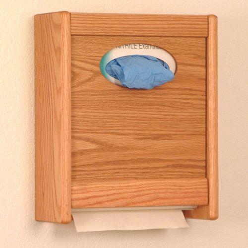 Combo Towel Dispenser & Tissue/Glove Box Holder