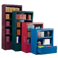 "Elite Welded Bookcases with File Drawer 18"" Depths"