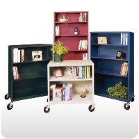 "Elite Welded Mobile Bookcases 18"" Depths"