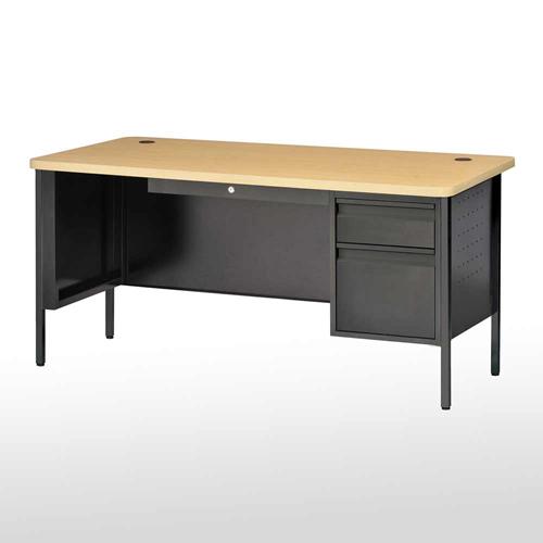 "SPR6030BM Steel Teachers Desk Single Pedestal 60""W x 29"
