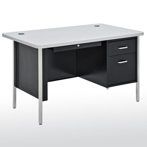 """SQ4830BGN Steel Teachers Desk Single Pedestal 48""""W x 29"""